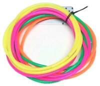 12 x Neon Gummy Bangles - Bands Jelly Bracelets 80s 80's Fancy Dress Costume