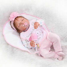 "22"" Realistic Lifelike Reborn Baby Doll Girl Newborn Lifelike Vinyl Silicone US"