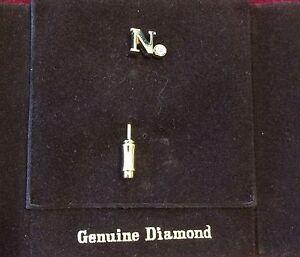 "PIERRE CARDIN GENUINE DIAMOND HAT PIN W/ Golden initial ""N"" PARIS NEW YORK"