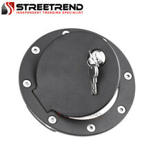 For 88-00 Chevy/GMC C10 CK Truck/Suv Matte Aluminum Fuel Gas Door Cover w/Lock