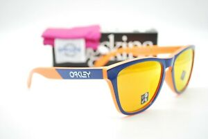 NEW OAKLEY OO9245-9254 FROGSKINS (A) ORANGE NAVY AUTHENTIC SUNGLASSES RX 54-17