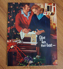 1970 Singer Sewing Machine Ad Touch & Sew   Christmas Theme