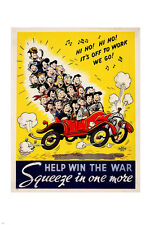 DR. SEUSS war propaganda poster CONSERVE OIL/FUEL animated amusing 24X36