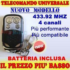TELECOMANDO MHZ UNIVERSALE 4 CANALI 433 CANCELLO PER CANCELLI FAAC pn
