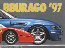1002bb Bburago Modèle Voitures Prospectus 1997 80 S Catalogue Brochure Model Cars