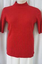 "Charter Club Woman Top Sz 1X Deep Red Zone ""Core"" Knit Short Sleeve Shirt Casual"
