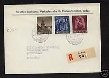 Liechtenstein  nice registered cover  1957