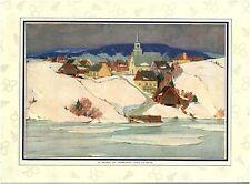 Publicité ancienne Amérique du Nord  village de Péribonka  1931 issue magazine