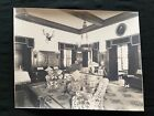 Antique Photograph Sepia THE TOWERS Singer Castle Dark Island 1920's Trophy Room