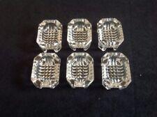 Vintage Clear Cut Pressed Glass Open Salt Cellars - Set of 6