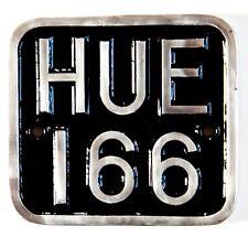 HUEY Land Rover Defender HUE 166 3D Badge  Defender 90 110 Polished Signs
