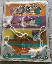 Vtg 1987 Current Book Marks Frazzled Felines Cats Unpunched Tassels