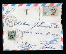 FRANCE POSTAGE DUE 1963 DAHOMEY 25F NOT ACCEPTED? 50c DUE