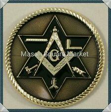 New Freemason Masonic car emblem with Working Tools Gold & Black Tone