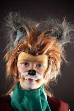 World Book Day-Animal-Wolf-FANTASTIC MR FOX Wig-Ears-Nose Kids Fancy Dress Set