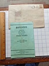 1937 National Cash Register Co. Booklet - Expenses in Retail Food Stores