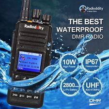 Radioddity GD-55 10W DMR IP67 Digital Two-way Radio UHF Walkie Talkie Free Cable