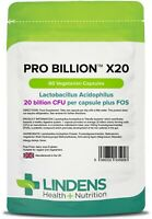 Pro Billion X20 Capsules (was Probiotic X20) Capsules 20bn CFU(60 pack) Lindens