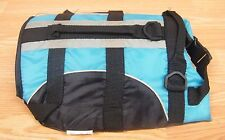 Unbranded/Generic Size XS Teal & Black Adjustable Dog Life Jacket / Vest *READ*