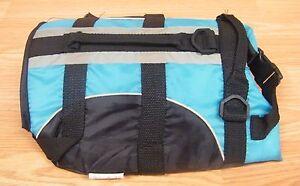 Unbranded/Generic Size XS Teal & Black Adjustable Dog Life Jacket / Vest *READ*
