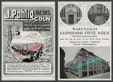 J. Pohlig Drahtseilbahn Seefahrt Frachter Kaufhaus Tietz Köln Wilhelm Kreis 1916