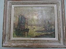 HUILE SUR TOILE MARINE PORTE LA SIGNATURE HENRY MORET 1858-1913