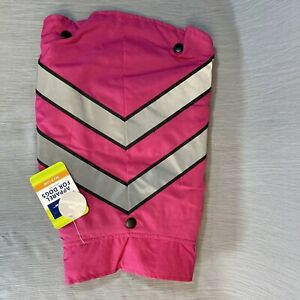 Pink 2 in 1 Sweater & Coat for Dogs Sz Med Reflective