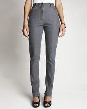 "Ladies Slim Leg Jeans With Belt - Length 29"" - Grey Denim - UK Size 14 - NEW"
