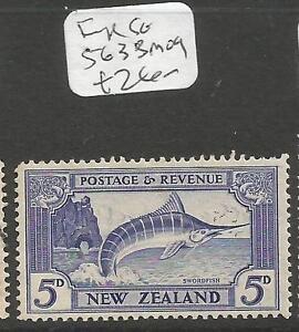 New Zealand Fish SG 563b MOG (4cpr)