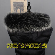 100% Real Fur Collar Womens Scarf Shawl Wrap Stole Warm Ladies Neck Warmer New