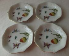 4 RARE 1970's JAPANESE ROYAL CROWN SPRING TIME STRAWBERRY & BUTTERFLIES COASTERS