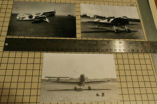 "LOT OF 3: SET #47 GEE BEE MODEL X #8 BLACK & WHITE 4"" X 6"" AIRPLANE PRINTS"