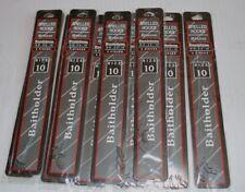 Lote 10 Paquetes Nuevo Danielson Montados en Sedal Ganchos Pesca Tamaño 10