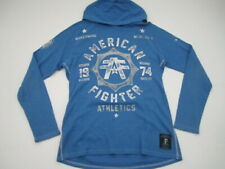 Mens Large American Fighter Affliction blue thermal hoodie