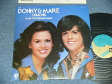 DONNY & MARIE OSMOND (BROTHERS) Japan 1975 NM LP MAKE THE WORLD GO AWAY