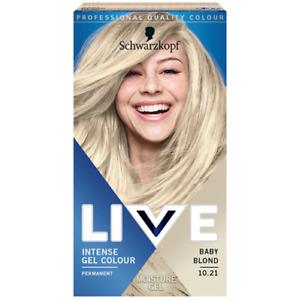 Schwarzkopf Permanent Intense Gel Hair Color LIVE 10.21 Baby Blond
