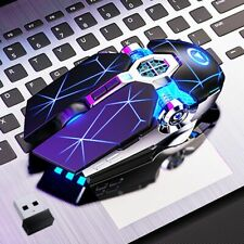 Gaming Mouse Wireless Rechargeable Ergonomic 7 Optical Usb Led Silent Pc Laptop