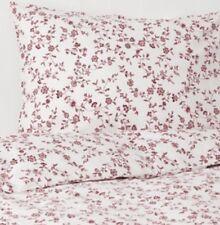 Ikea Hassleklocka Double Duvet Set, 2 Pillowcases White & Pink/Red BNWT