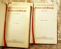 """Kallinikow, Josef """"FRAUEN UND MÖNCHE"""" Roman in zwei Bänden-Haessel 1929"""
