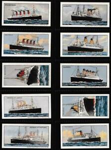 Cadbury's - 'Famous Steamships' - (1923) - Complete Set
