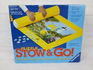"""Puzzle Stow & Go Mat 46""""x 26"""" Roll up & Transport Jigsaw Puzzle Up To 1500 Piece"""