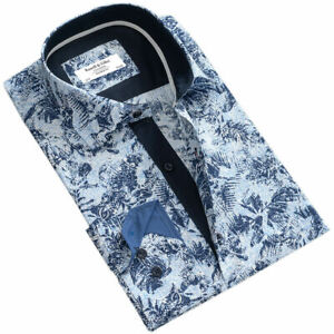 Russell & Giles Men`s Leaf Patterned Casual Shirt Size XXL BNWT