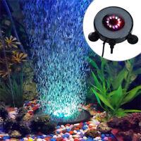 Aquarium Fish Tank LED Round Light Submersible Underwater Air Bubble Lamp