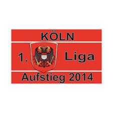 Fahne Flagge Köln Aufstieg 90 x 150 cm für Köln Fans ein Schmuckstück F18