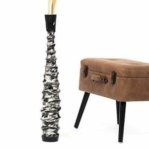 Tall Big Floor Standing Vase For Home Decor 75 cm, Mango Wood, black