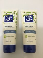 TWO- NEW Kiss My Face Olive & Aloe Hand Face Body Lotion 6 Fl Oz DISCONTINUED
