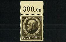 Bayern 20 Mark Ludwig 1914** Frühdruck Michel 109 I Oberrand geprüft (S10744)