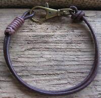 Herren Armband braun Leder neu Surfer Style Herrenarmband Lederarmband Bracelet