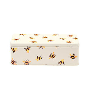Emma Bridgewater Storage Tin Bumblebee Design Long Deep Rectangular Steel Tin