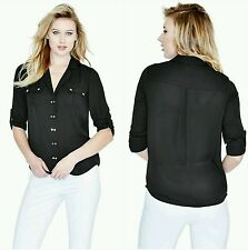 NWT Guess by Marciano black Andis Shirt top size M